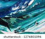 ocean waves .motion  painting... | Shutterstock . vector #1276801096