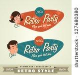 retro emblems  logos | Shutterstock .eps vector #127680380