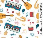 musical instruments for music...   Shutterstock .eps vector #1276806016