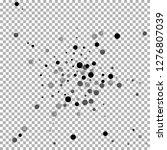 scattered random black dots.... | Shutterstock .eps vector #1276807039
