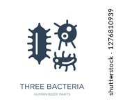 three bacteria icon vector on... | Shutterstock .eps vector #1276810939