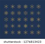 big set of snowflakes winter... | Shutterstock .eps vector #1276813423