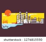 petroleum energy  diesel oil... | Shutterstock .eps vector #1276815550
