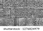 stone wall background in black...   Shutterstock . vector #1276824979