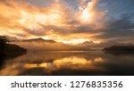 reflection beautiful landscape... | Shutterstock . vector #1276835356