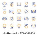 award line icons. set of winner ... | Shutterstock .eps vector #1276849456