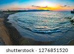 sunset over poli beach on...   Shutterstock . vector #1276851520