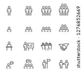 people icons line work group... | Shutterstock .eps vector #1276852669