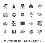 trees flat glyph icons set....   Shutterstock .eps vector #1276853449