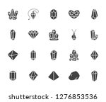 crystals flat glyph icons set.... | Shutterstock .eps vector #1276853536