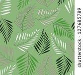 seamless fern leaf pattern.... | Shutterstock .eps vector #127685789