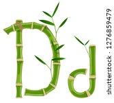 bamboo letter d with young... | Shutterstock .eps vector #1276859479