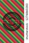 moreover christmas badge... | Shutterstock .eps vector #1276860283
