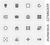 multimedia icons line style set ... | Shutterstock .eps vector #1276862659