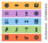 beverages icons set with... | Shutterstock . vector #1276863316