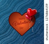 valentine's day abstract... | Shutterstock .eps vector #1276864159