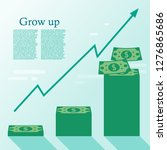 schedule with money grow up on ... | Shutterstock .eps vector #1276865686