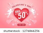 valentine's day sale banner...   Shutterstock .eps vector #1276866256