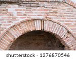damaged brick wall arcade   old ... | Shutterstock . vector #1276870546