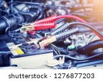 car battery  electric vehicle... | Shutterstock . vector #1276877203