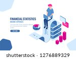 work with data  isometric icon... | Shutterstock .eps vector #1276889329