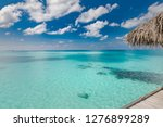 over water bungalows of a... | Shutterstock . vector #1276899289