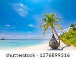 beautiful tropical maldives... | Shutterstock . vector #1276899316