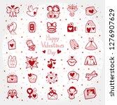 valentines day doodle... | Shutterstock .eps vector #1276907629