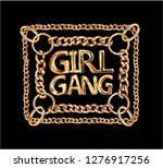girl gang golden chain lace... | Shutterstock .eps vector #1276917256