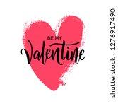 happy valentine's day hand... | Shutterstock .eps vector #1276917490