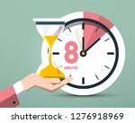 8 eight minutes clock symbol.... | Shutterstock .eps vector #1276918969