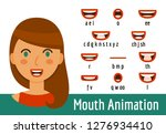 mouth lip sync set | Shutterstock .eps vector #1276934410