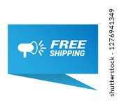 free shipping sign   label ...