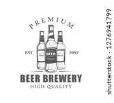 beer label isolated on white... | Shutterstock .eps vector #1276941799