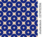 vector geometric floral pattern.... | Shutterstock .eps vector #1276952536