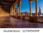 plaza de espana in seville ... | Shutterstock . vector #1276954549