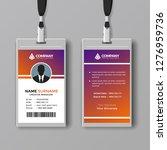 elegant id card design template   Shutterstock .eps vector #1276959736