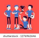 junior football  soccer players ... | Shutterstock .eps vector #1276962646