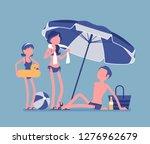 happy family enjoy rest at... | Shutterstock .eps vector #1276962679