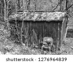Monochrome Image Of An Old...