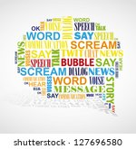 Speech Bubble Formed By Color...