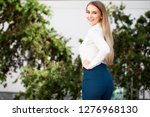 back view portrait  young... | Shutterstock . vector #1276968130