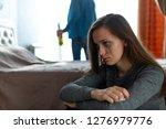 domestic  female violence.... | Shutterstock . vector #1276979776