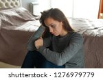 depressed  sad  lonely woman... | Shutterstock . vector #1276979779
