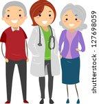illustration of stickman senior ... | Shutterstock .eps vector #127698059