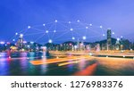 network and connection... | Shutterstock . vector #1276983376