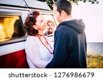 family in love mother and...   Shutterstock . vector #1276986679