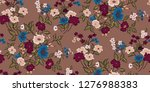 seamless floral pattern in... | Shutterstock .eps vector #1276988383