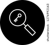 vector keyword search icon  | Shutterstock .eps vector #1276992163
