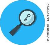 vector keyword search icon  | Shutterstock .eps vector #1276994980